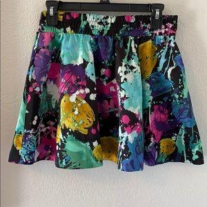 Twenty one multi colored skater skirt Medium